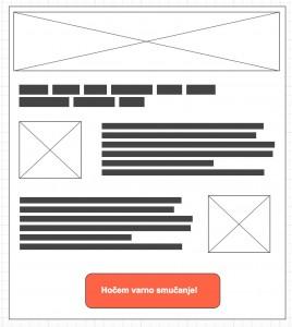 Skica click-through pristajalne strani