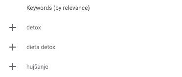 Relevantnost ključnih besed za Google Ads