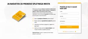 Marketing automatin vodič - nova pristajalna stran