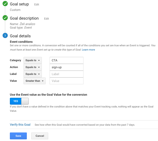 Google Analytics Goal Naming