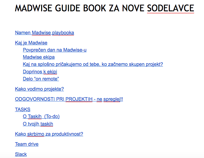 Madwise zaposlovanje - guide book