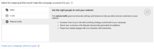 Adwords Marketing Goals