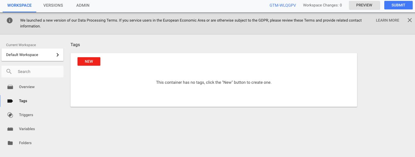 Google Tag Manager - Nova oznaka