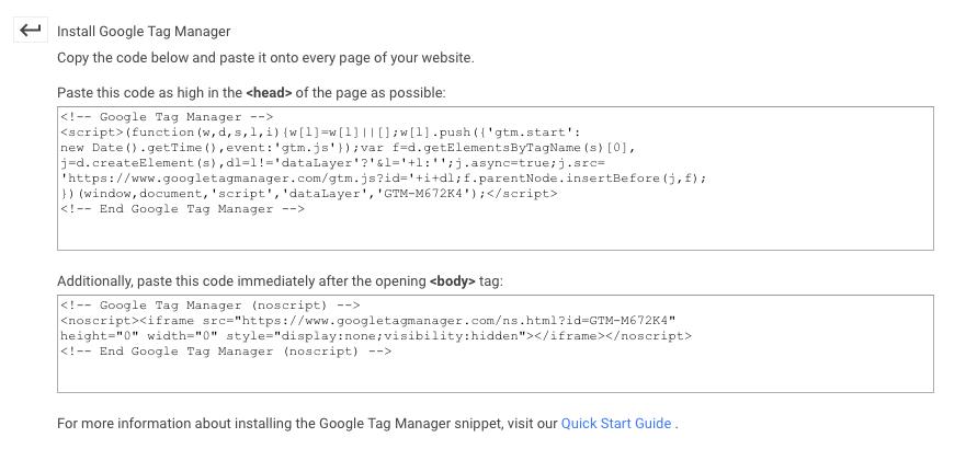 Google Tag Manager - Oznaka