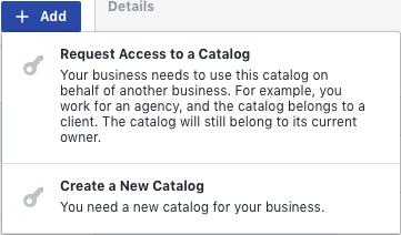 Dodajanje Facebook kataloga