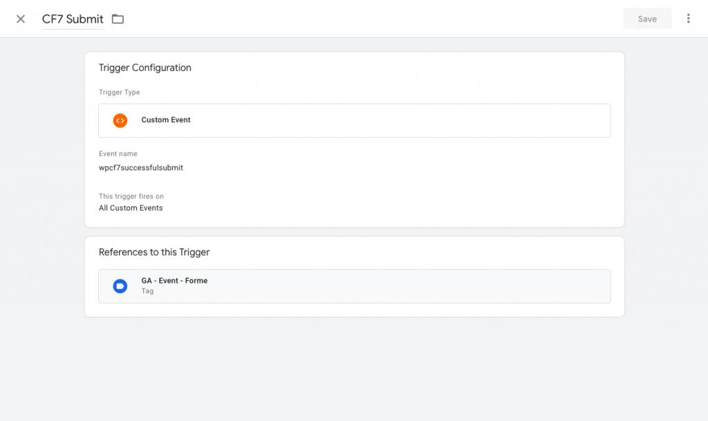 Google Tag Manager Custom event
