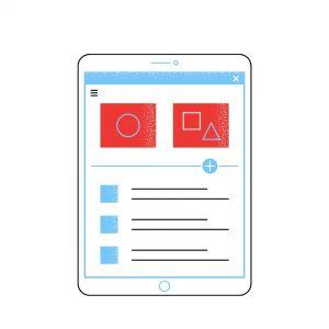 Info grafika za prikaz spletne trgovine